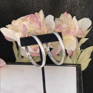 Silver Hoop Earrings NWT-BUNDLE TO SAVE!!
